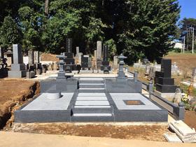 画像:北杜市-墓所リフォーム・完成1