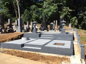 画像:北杜市-墓所リフォーム・完成2