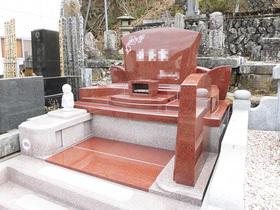 画像:都留市 デザイン墓石・完成2