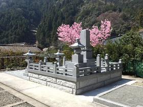 画像:身延-墓所新設-完成・背面より