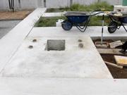 画像:甲斐市-デザイン墓石・工事中1
