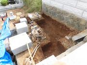 画像:山梨市-墓所リフォーム・工事中3