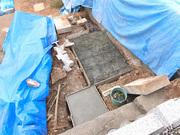 画像:山梨市-墓所リフォーム・工事中4